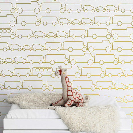 Sissy & Marley Wallpaper | Jam in Gold | Australia