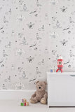 Nursery Wallpaper for Boys. Buy online Katie Bourne Wallpaper - Once Upon A Star