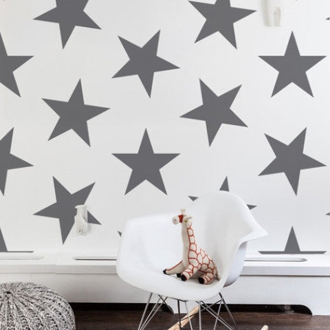Sissy & Marley Wallpaper Lucky Star in Charcoal