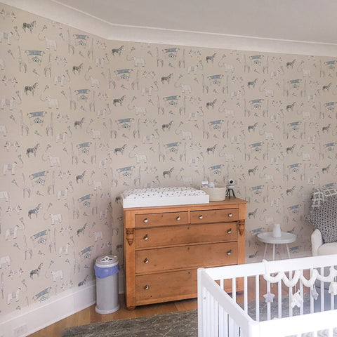 Marley+Malek Kids Wallpaper | Lucky Star in Charcoal