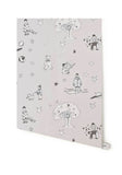 Nursery Wallpaper for Boys. Katie Bourne Wallpaper. Once Upon A Star in Light Grey