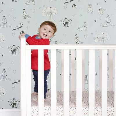 Nursery Wallpaper by Katie Bourne Interiors. Once Upon A Star.