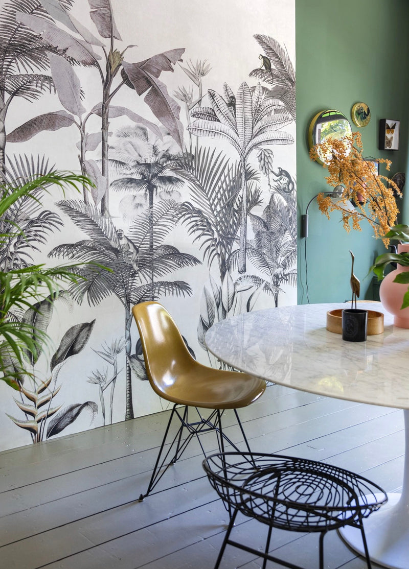 Tropical Wallpaper in Black & White. Onszelf Wallpaper 539187