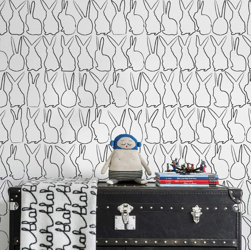 Sissy & Marley | Hop in Charcoal Wallpaper