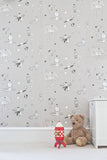 Nursery & Toddler Wallpaper. Once Upon A Star. Grey Slate Wallpaper. Buy online at Just Kids Wallpaper