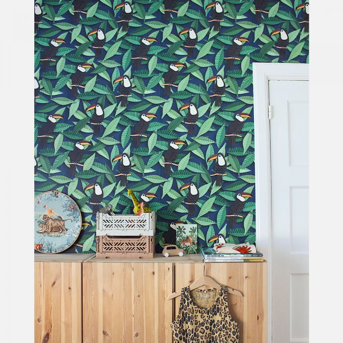 Kids room Wallpaper - Toucans by Studio Ditte
