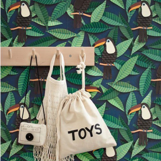 Toucan Wallpaper by Studio Ditte