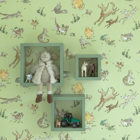 Osborne & Little Wallpaper | Butterfly Meadow W6061-01