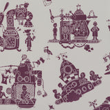 Paperboy Wallpaper When I grow Up in Aubergine