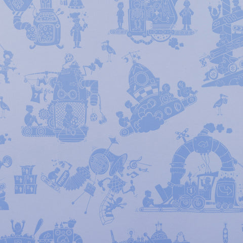 PaperBoy Wallpaper | 'How it works' | Blue & White