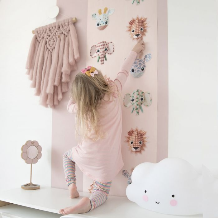 Wild Animals Pink Wallpaper By Studio Ditte