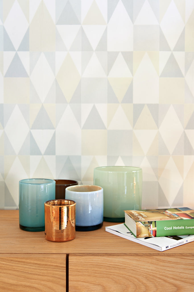 Alice Wallpaper by Majvillan in soft grey