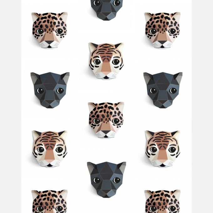 Panthera Wallpaper by Studio Ditte in White