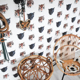 Studio Ditte Panthera Wallpaper in White