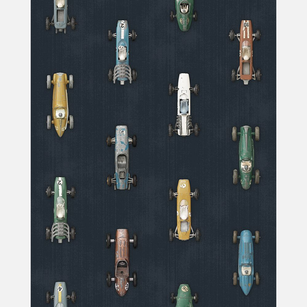 Studio Ditte Wallpaper | Race Cars Dark