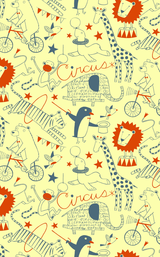 Loboloup Childrens Wallpaper - Circus