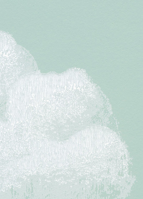 close up of Bartsch Wallpaper Cotton Clouds in Water lily for nurseries