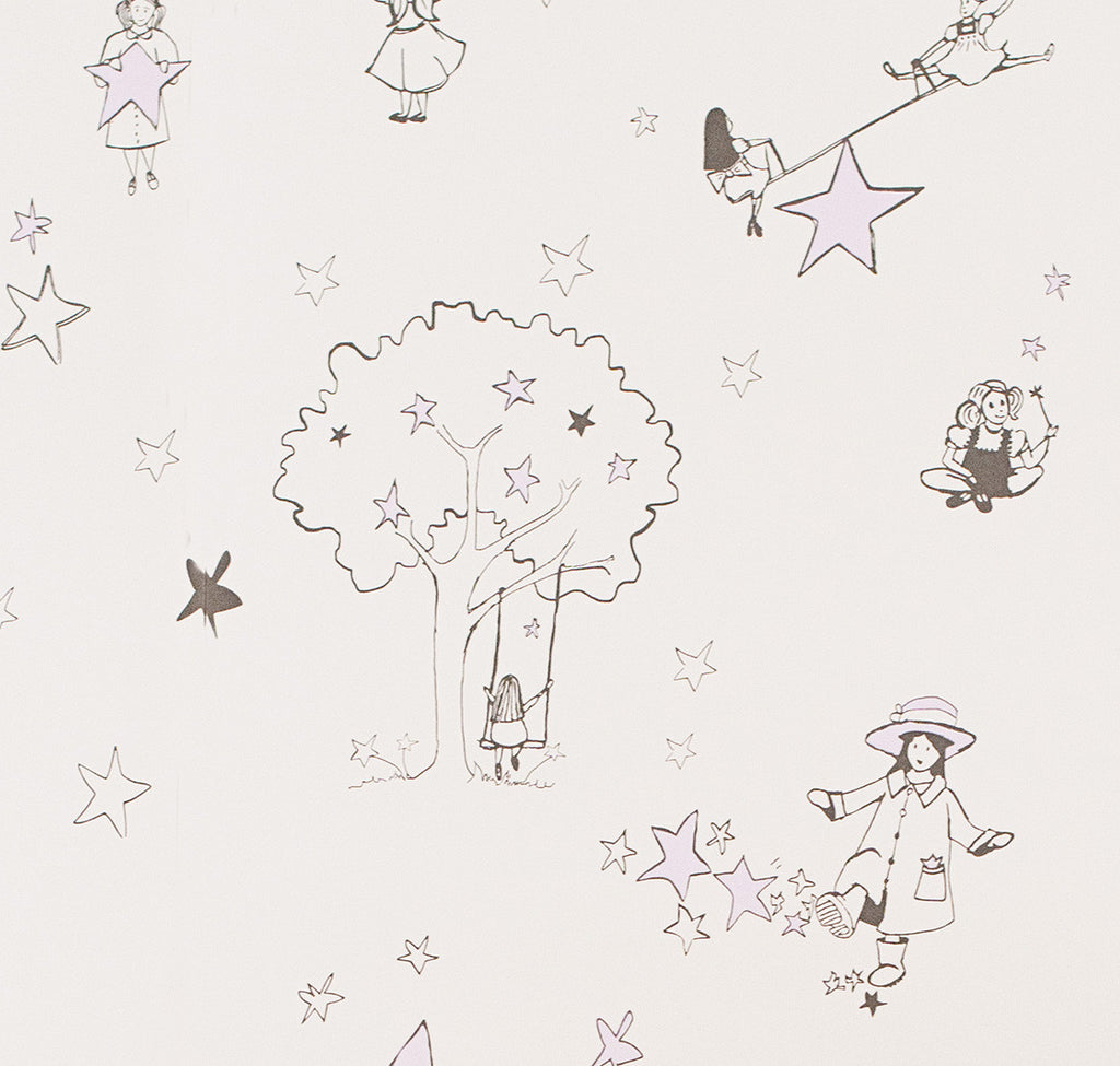 Catch A Stars Wallpaper for a Girls Nursery. Buy online in Australia