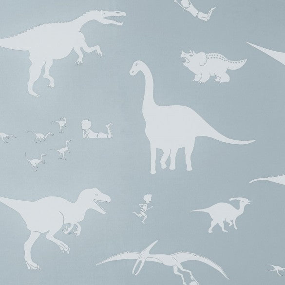 'D'ya-think-e-saurus' Wallpaper | Bone Chine Blue | dinosaur wallpaper