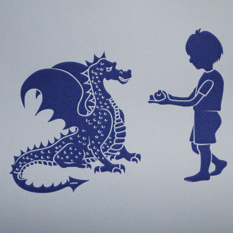PaperBoy 'ere-be-dragons' Blue wallpaper