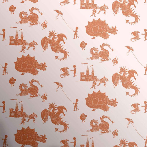 PaperBoy 'ere-be-dragons' Stone- Taupe wallpaper