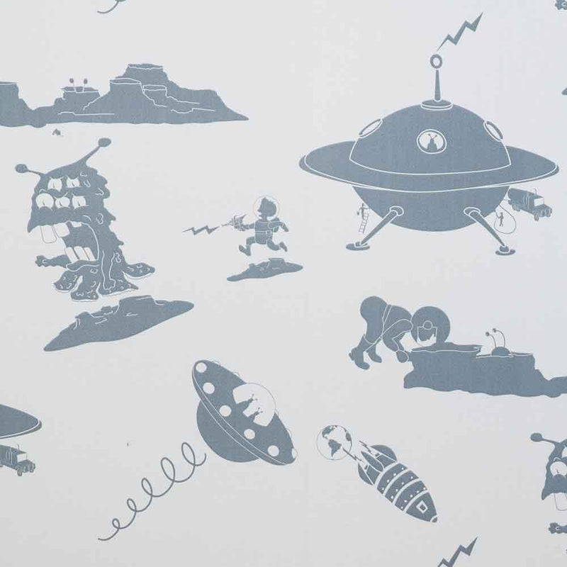 PaperBoy 'Final Frontier' Blue Childrens wallpaper