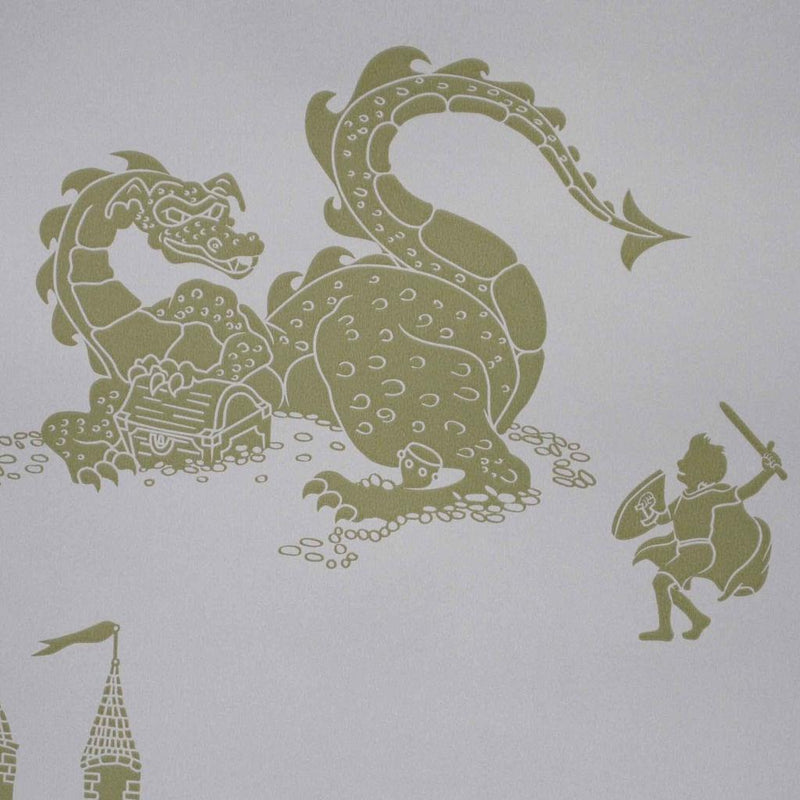 PaperBoy 'ere-be-dragons' Lilac wallpaper
