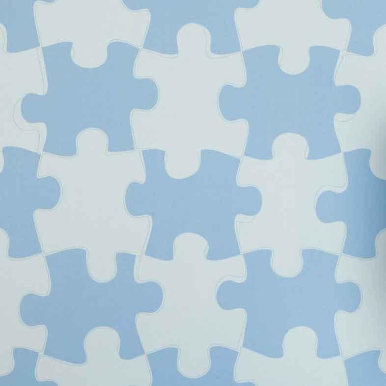 Kids Wallpaper by PaperBoy | Its A Puzzle in Blue