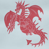 PaperBoy 'ere-be-dragons' Red wallpaper