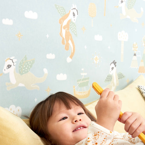 Marley+Malek Kids Wallpaper | Twinkle in Blue