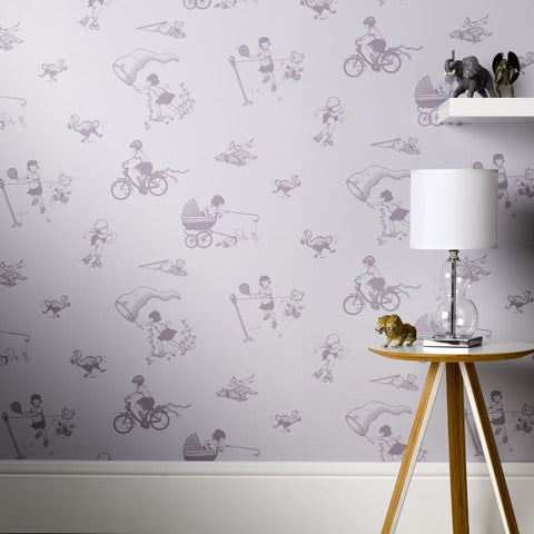 PaperBoy Wallpaper | 'How it works' | Purple & Black