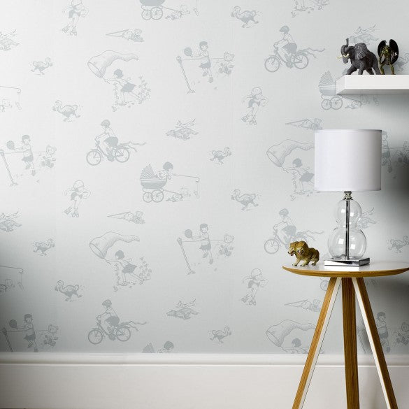 Paperboy Wallpaper General Miss Chief in Pebble