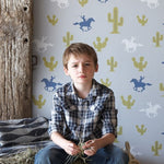 Hibou Home Cactus Cowboy Wallpaper at Just Kids Wallpaper