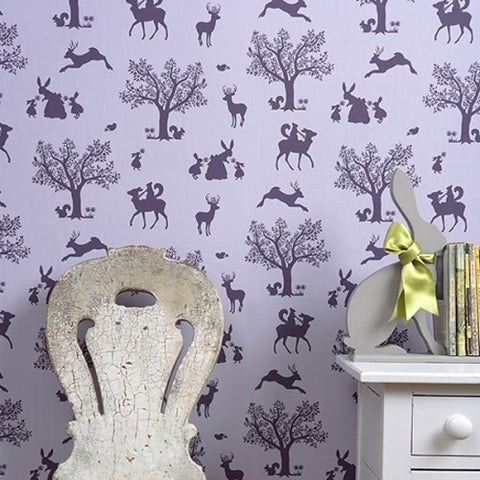 Hibou Home Wallpaper | Into The Wild in Grey/Storm