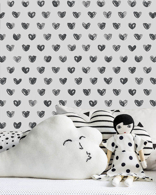 Sissy & Marley Wallpaper Australia | Love Charcoal