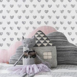 Marley+Malek Kids Wallpaper | Drops in Silver