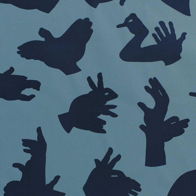 PaperBoy- 'Hand Made' Dark Blue childrens wallpaper