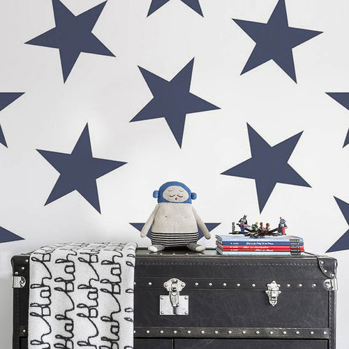 Sissy & Marley Wallpaper. Lucky Stars in Navy