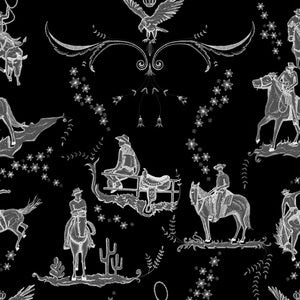 YSD London Wallpaper | WILD WEST TOILE  Moonlight.
