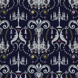 YSD London Wallpaper | Manor House Damask (Night)