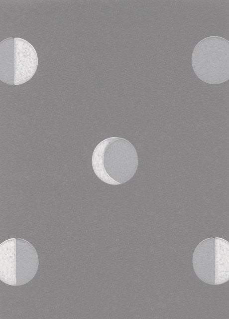 Bartsch Wallpaper | Moon Crescent Kitten Grey