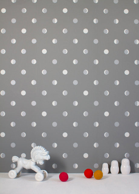 Bartsch Moon Cresent Kitten Grey kids Wallpaper