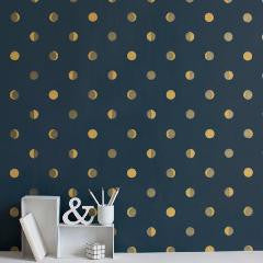 Bartsch Moon Cresent Navy Ink kids Wallpaper
