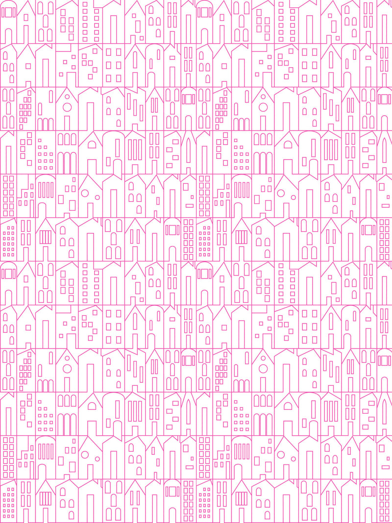 Marley+Malek Kids Wallpaper | My House in Fuchsia