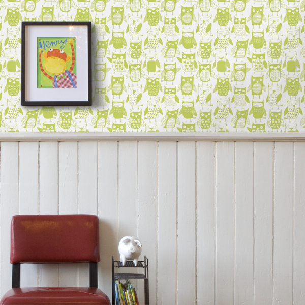 Loboloup Childrens Wallpaper - Owls