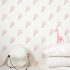 Bartsch Parisian Dandelions Sandalwood Pink Childrens Wallpaper
