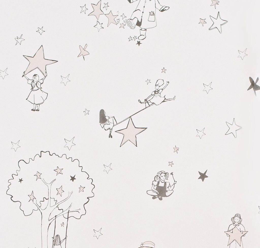 Katie Bourne Interiors Wallpaper - Catch A Star Pink on Pink. 10m x 52cm roll.