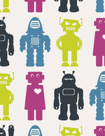 Robots Classic Wallpaper by Aimee Wilder (in stock)