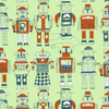 Loboloup kids Wallpaper Robots