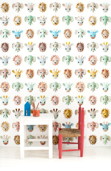 Studio Ditte Wild Animals Sweet Wallpaper